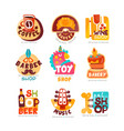 collection various shops logo templates set vector image vector image