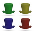 colorful top hat vector image