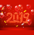 congratulations happy new 2019 year horizontal vector image vector image