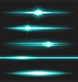 cyanl aser beams pack vector image vector image