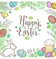 decorative easter greeting card vector image vector image
