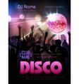 Disco background Disco poster vector image vector image