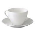 Empty white cup and saucer vector image vector image