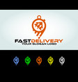 fast food delivery vector image vector image