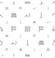 field icons pattern seamless white background vector image vector image