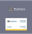 film roll logo design with business card template vector image