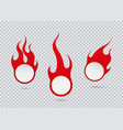 fire and flame sale tags set flat icon vector image vector image
