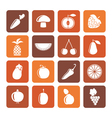 Flat Different kinds of fruits and Vegetable icons vector image vector image