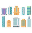 flat of various modern skyscrapers vector image vector image