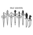 graphic ornate knifes vector image vector image