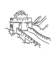 Great Wall in China vector image vector image