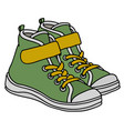 green childrens sneakers vector image