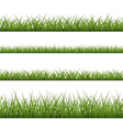 Green grass seamless pattern line vector image vector image