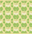 green trees and flying doves seamless pattern vector image