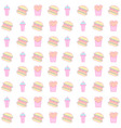 hamburger and french fries seamless pattern vector image vector image