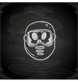 Hand Drawn Alien in Safety Mask vector image vector image
