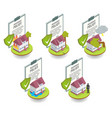 home insurance cover set flat vector image