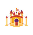 inflatable castle trampoline for children isolated vector image
