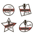 karaoke party icons vector image vector image