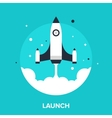 launch vector image vector image