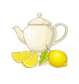 lemon tea vector image