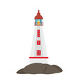 lighthouse and water logo vector image