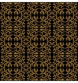Linear pattern in baroque and rococo style vector image vector image