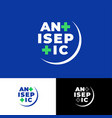 logo antiseptic sanitizer medical cross vector image vector image