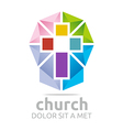 Logo Chruch Croos Christian Icon Symbol Abstract vector image