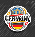 logo for germany vector image vector image