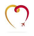 love travel vector image