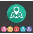 Map location icon flat web sign symbol logo label vector image vector image