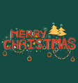 merry christmas lettering design set typography vector image vector image
