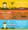 military force banner horizontal set flat style vector image vector image