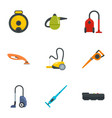 modern carpet sweeper icon set flat style vector image