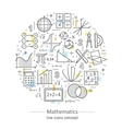 Modern color thin line concept of mathematics vector image vector image