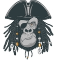 Monkey harsh pirate vector image vector image