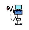 oxygen medical equipment color icon vector image vector image