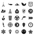 pin icons set simple style vector image vector image
