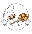 pizza chef banner vector image
