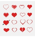 Red heart collection icon vector image vector image