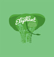 save elephant conservative concept vector image