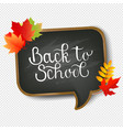 school board and text back to transparent vector image vector image