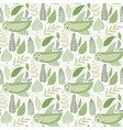 seamless tough pattern with owls vector image vector image
