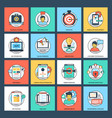 seo and development flat icons vector image vector image