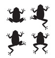 set frog silhouettes on white background vector image vector image