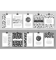 Set of creative black and white vintage cards vector image vector image