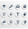 Set of security icons vector image vector image