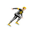 short track speed skating vector image vector image