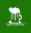 st patricks day symbol design a glass of beer vector image
